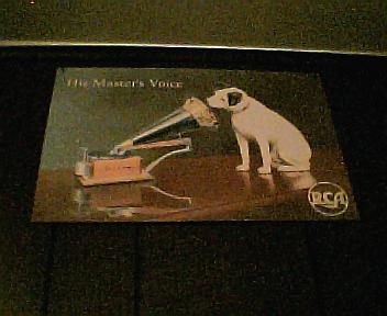 Image of Dog Listening to His Master's Voice on Phonograph