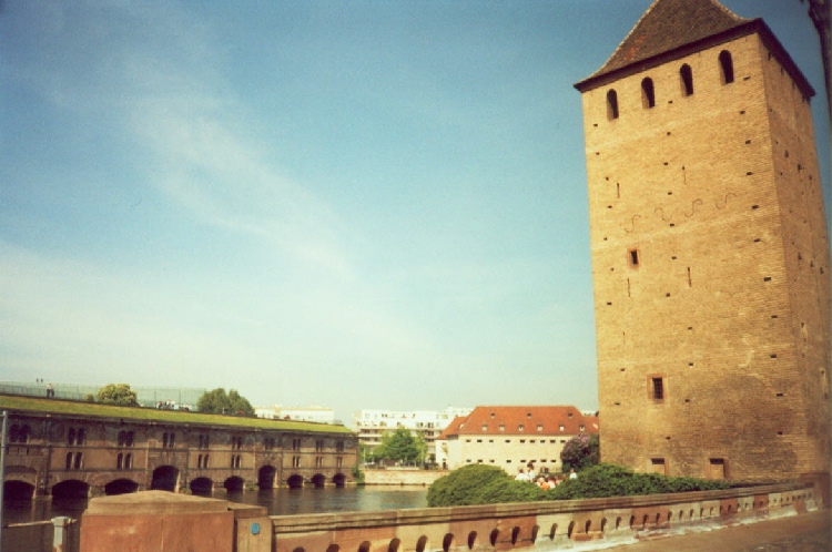 Fortress Bridge in Strasbourg, photograph by C. W. Booth