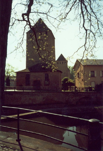 Canal Watchtower in Strasbourg, photograph by C. W. Booth